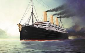 Picture wave, imperator, ship, Transatlantic Ships