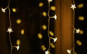 Wallpaper background, holiday, garland