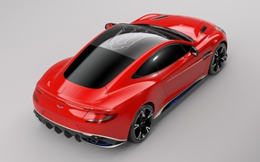 Picture car, Aston Martin, red, logo, wings, Arrow, technology, Aston Martin Vanquish S Red Arrows Edition
