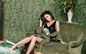 Picture look, girl, photo, model, hair, blouse, beautiful, Miranda Kerr, Miranda Kerr