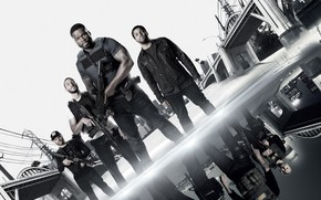 Picture weapons, action, poster, 50 Cent, vests, The hunt for the thieves, Den of Thieves, Fifty …