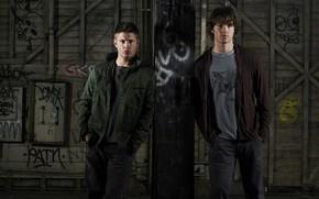 Picture labels, wall, Dean, Supernatural, Supernatural, SEM