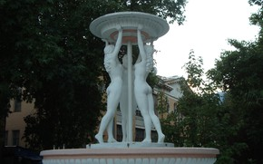 Picture beautiful, fountain, the three graces