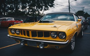 Picture classic, the front, Plymouth Barracuda