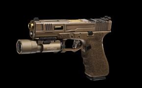 Wallpaper gun, flashlight, FI Mk 2, G17