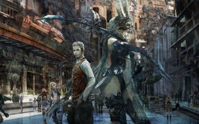 Picture gun, game, Final Fantasy, weapon, bow, Final Fantasy XII, Final Fantasy XII The Zodiac Age