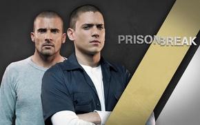Picture the series, actors, poster, Prison Break, characters, Escape