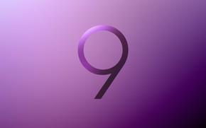 Picture Samsung, Galaxy S9, Stock Purple