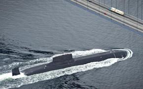 Wallpaper Navy, submarine, Russia, bridge, Project 941