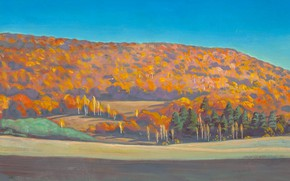 Picture autumn, forest, mountains, picture, Rockwell Kent, Rockwell Kent, Adirondack Landscape