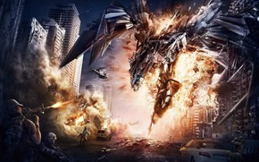 Picture city, cinema, gun, robot, soldier, mecha, weapon, war, movie, Transformers, M4A1, film, rifle, AR 15, …