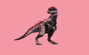 Picture dinosaur, predator, mouth, paint