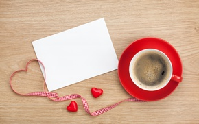 Wallpaper coffee, tape, hearts, love, i love you, heart, cup, romantic, valentine's day, coffee