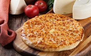 Picture cheese, tomato, khachapuri