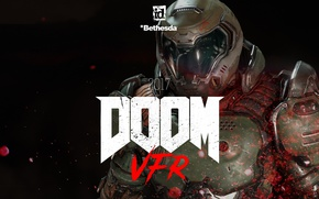 Picture red, game, marine, suit, Bethesda, pearls, Doom, Doom VFR