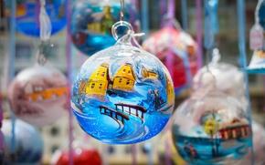 Wallpaper Colmar, Christmas, ball, decoration, toys, France, holiday, Christmas market, balls
