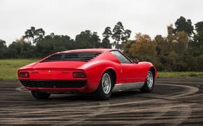 Picture Red, Auto, Lamborghini, Retro, Machine, 1969, Car, Supercar, Miura, Lamborghini Miura, Italian, P400, Body, P400 …