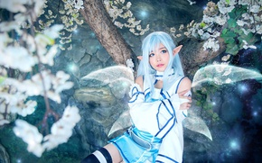 Picture kawaii, girl, game, forest, anime, fairy, wings, beautiful, pretty, cosplay, MMORPG, elf, asian, cute, manga, …