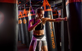 Picture girl, sports, Hanna, Boxing