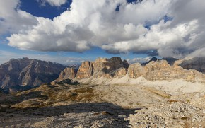 Wallpaper clouds, The Dolomites, the sky, mountains, Italy, Dolomiti