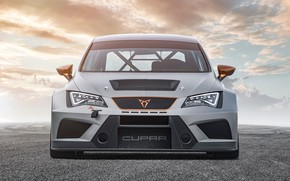 Wallpaper Cupra, 2019, Seat, front view, TCR