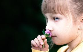 Picture macro, girl, clover
