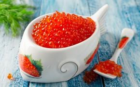 Picture dumb-dumb, appetizing, vase caviar, wallpaper., delicious, caviar, blur, bokeh, food, spoon the eggs, caviar