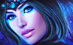 Picture look, girl, face, beauty, MAG, art, Guild Wars