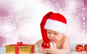 Picture winter, hat, toys, child, gifts, New year, Christmas, winter, baby, bokeh, New Year, baby, gifts, …