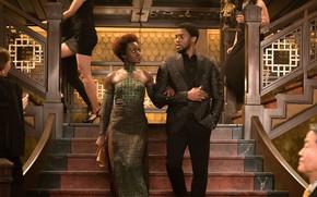 Picture cinema, dress, woman, man, movie, film, king, Black Panther, Chadwick Boseman, Wakanda, You challa