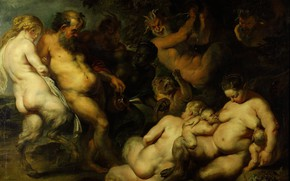 Wallpaper Peter Paul Rubens, mythology, Orgy, erotic, Pieter Paul Rubens, picture