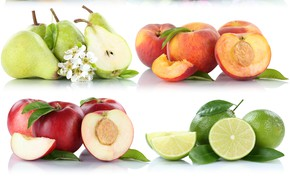 Picture peach, nectarine, fruit, pear, citrus, lime