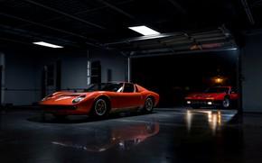 Wallpaper retro, Lamborghini Miura, Ferrari 365 BB