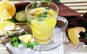 Picture Lemon, Drink, Tea, Mint