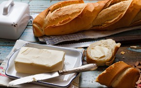 Picture oil, baguette, roll