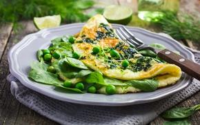Picture greens, polka dot, omelette, azo