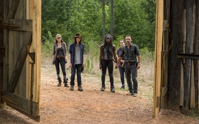 Picture the fence, gate, The Walking Dead, Season 7