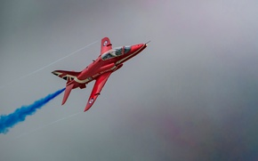 Picture Royal air force, Hawk T1, Hawker Siddeley Hawk, UK, Red Arrow, The Red Arrows, aerobatic ...