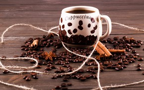 Picture Chocolate, Coffee, Coffee beans, Cinnamon