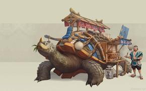 Picture fantasy, art, shop, takoyaki, Jourdan Tuffan, takoyaki, Takoyaki Turtle Truck