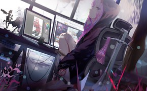 Picture girl, comp, art, Darling In The Frankxx, Cute in France