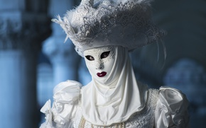 Picture white, hat, mask, costume, carnival