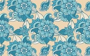Wallpaper flowers, pattern, texture, design, pattern, floral