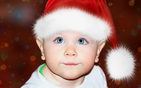 Picture hat, elf, child, eyes, baby