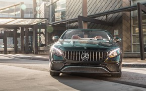 Picture Mercedes-Benz, front view, AMG, 2018, Cabriolet, S65
