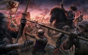 Wallpaper man, Kerem Couplets, The Battle of Sunset, blade, pearls, sword, horse, ken, knight, bow, spear, ...