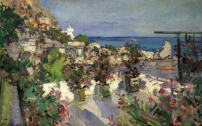 Picture picture, impressionism, Konstantin Korovin, The view from the Terrace. Gurzuf