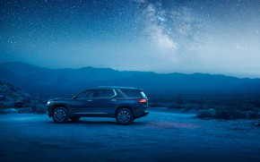 Picture Chevrolet, SUV, 2018, starry sky, Traverse