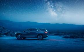Wallpaper Chevrolet, SUV, 2018, starry sky, Traverse