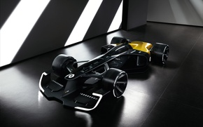 Picture car, Renault, sport, black, yellow, race, speed, Renault RS 2027 Vision